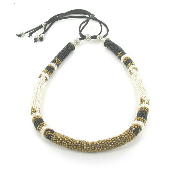tribal necklace-handmade-beaded-Airy-Mary