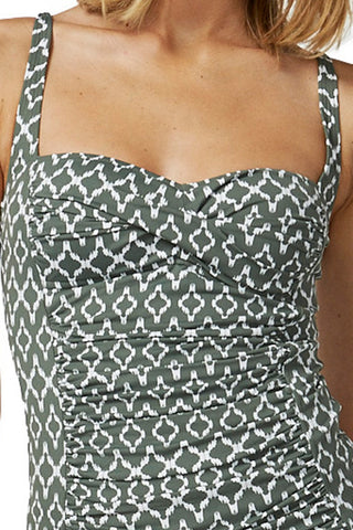 Moontide Sonar tankini at Airy Mary Olive green
