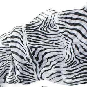black and white animal print sarong zebra