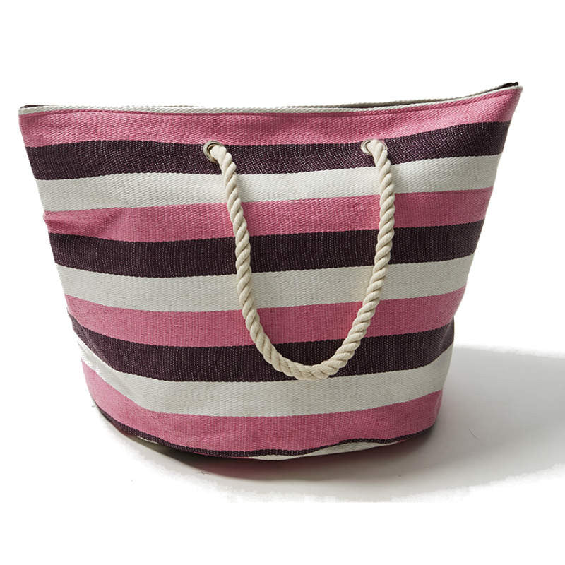 Moontide Beach Bag striped with rope handles