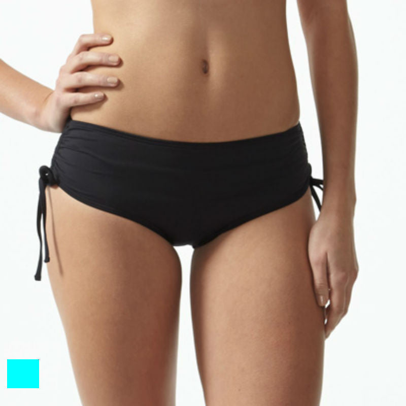 Moontide swimwear shorts turquoise with adjustable leg ties
