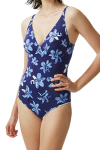 Moontide reversible swimsuit blue pacific