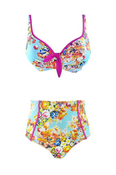 High waisted bikini at Airy Mary vintage print