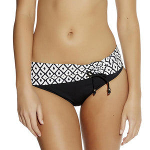 Fantasie Tanzania Fold bikini brief tie front black cream
