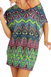 beach tunic multi coloured in ladies plus sizes