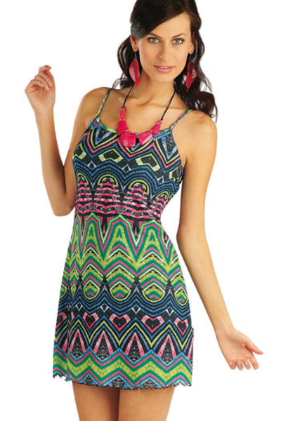 Beach dress tribal print