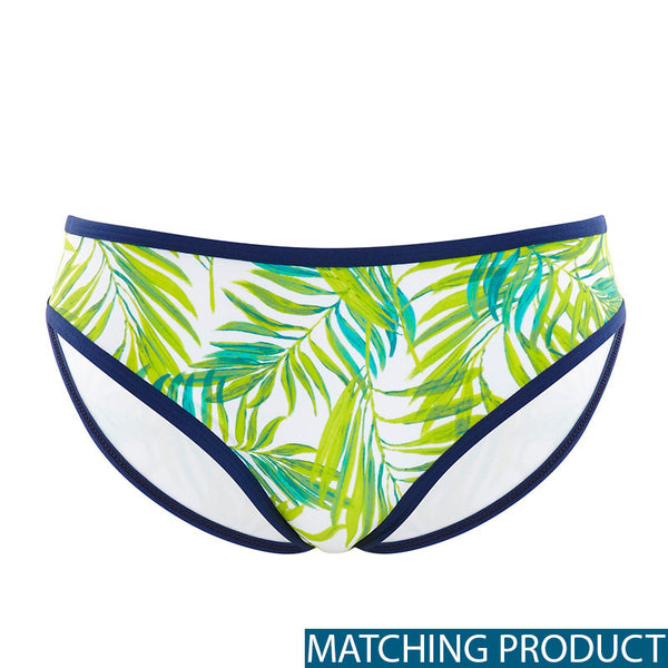 Cleo Avril Bikini Green Palm Print brief