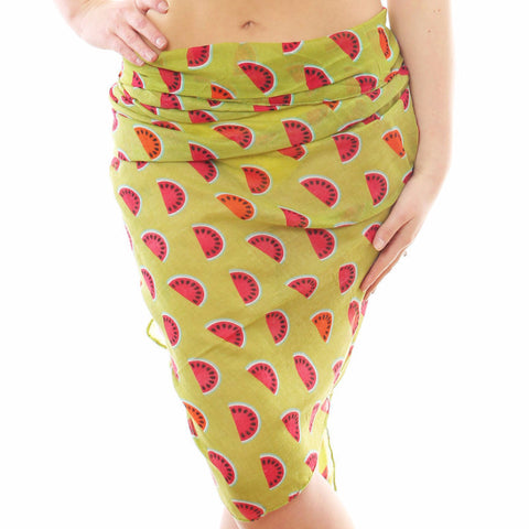 green watermelon sarong