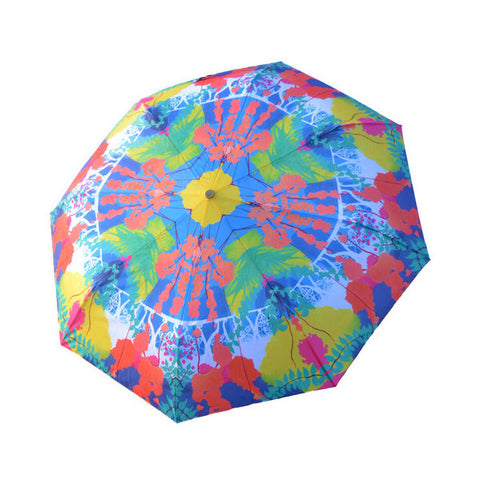 Patterned parasol umbrella by award winning artist