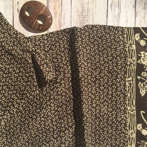 Brown pareo sarong beach wrap