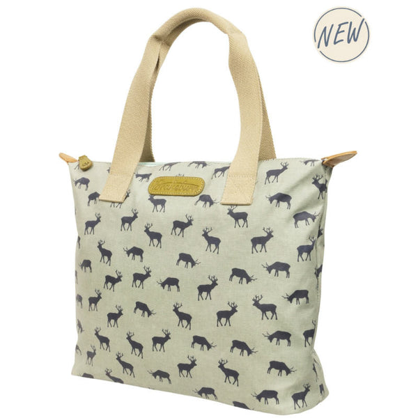 Shopper Bag in Retro Stag Print