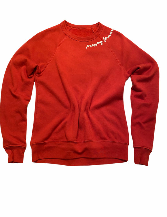 Brick and White Pressing Forward Sweatshirt