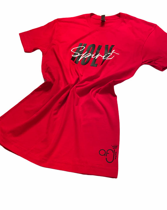Red, Black and White Holy Spirit T-shirt