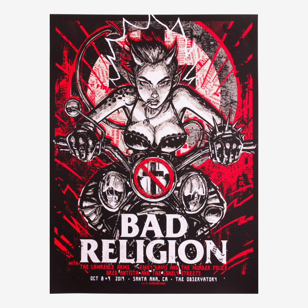 Bad Religion 2019 Santa Ana Event Poster