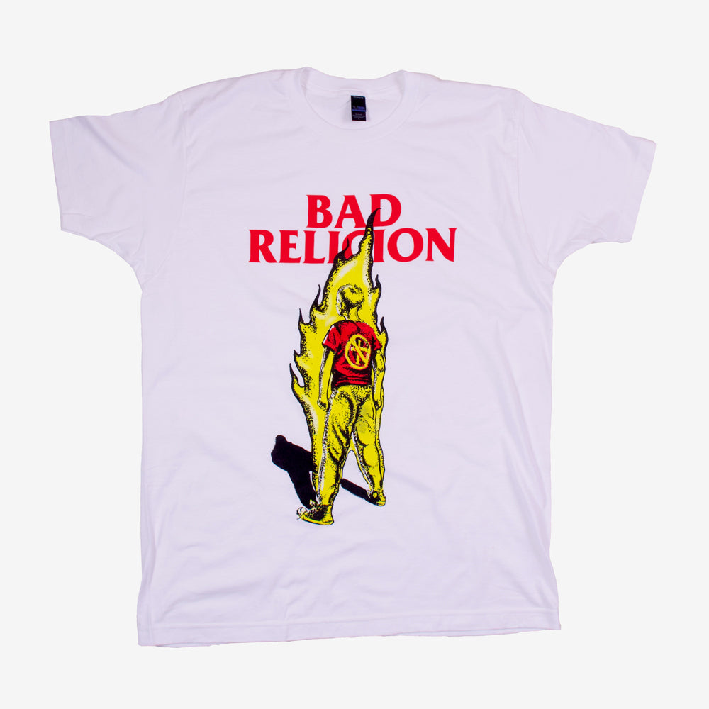 Bad Religion Boy on Fire Tee White