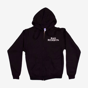 Bad Religion Broken Zip Hoodie Black