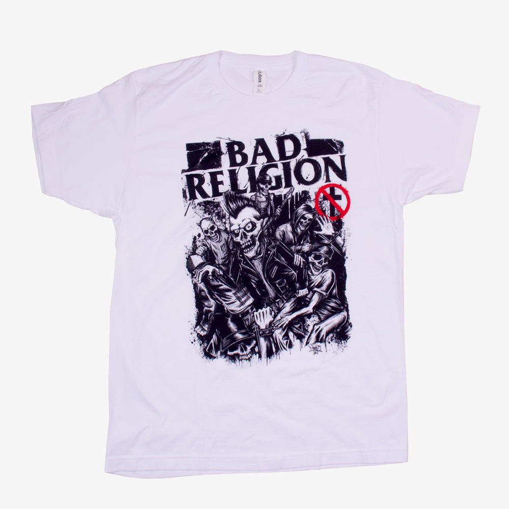 Bad Religion Mosh Tee White