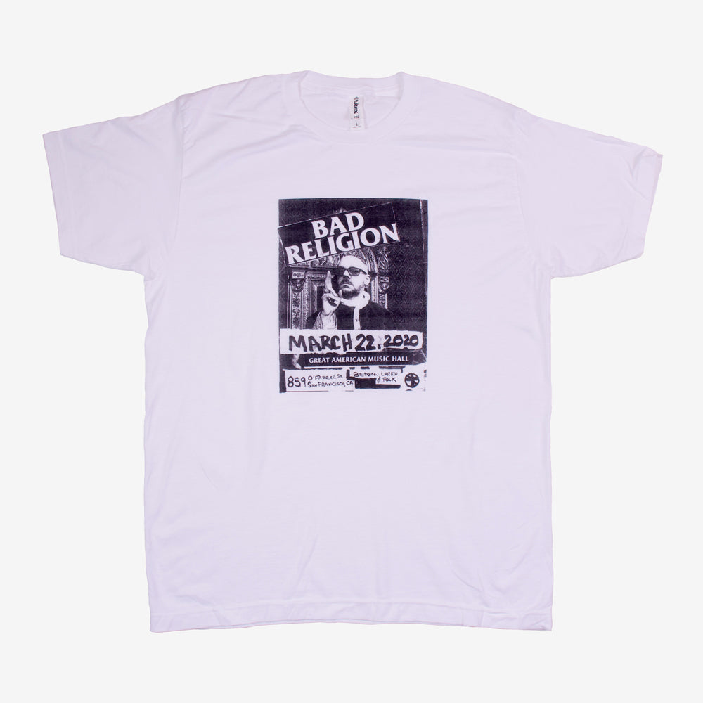 Bad Religion Music Hall Flyer Tee White
