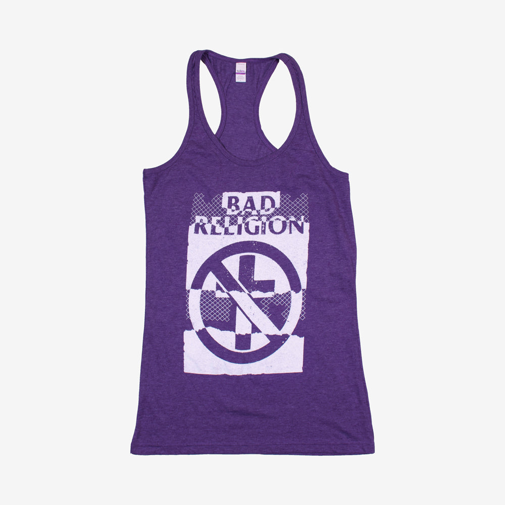 Bad Religion Ripper Racer Back Tank Top Heather Purple