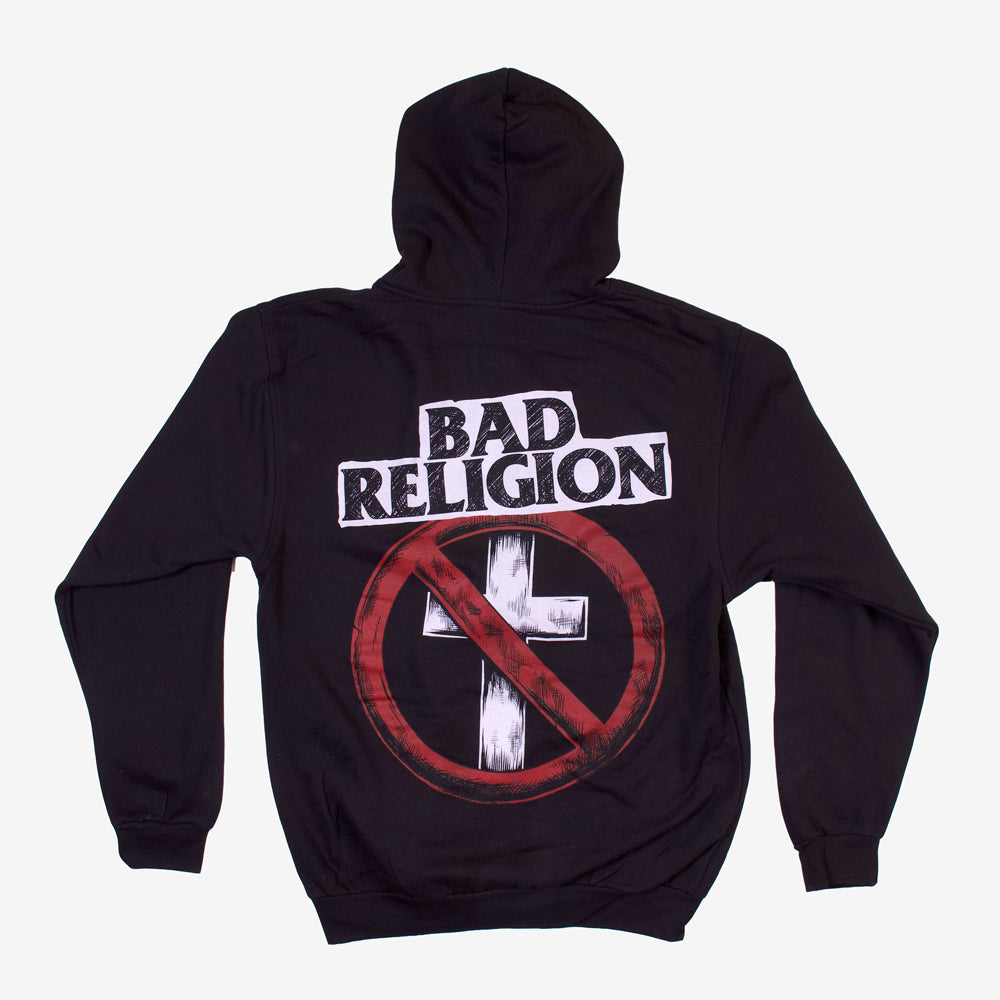 Bad Religion Sketchy Buster Zip Hoodie Black
