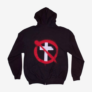 Bad Religion Spray Buster Zip Hoodie Black