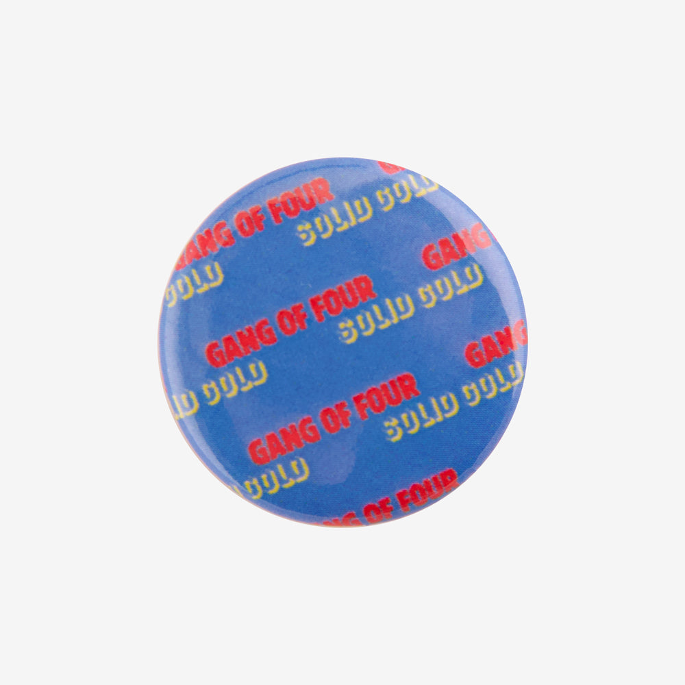 Gang of Four Solid Gold Button