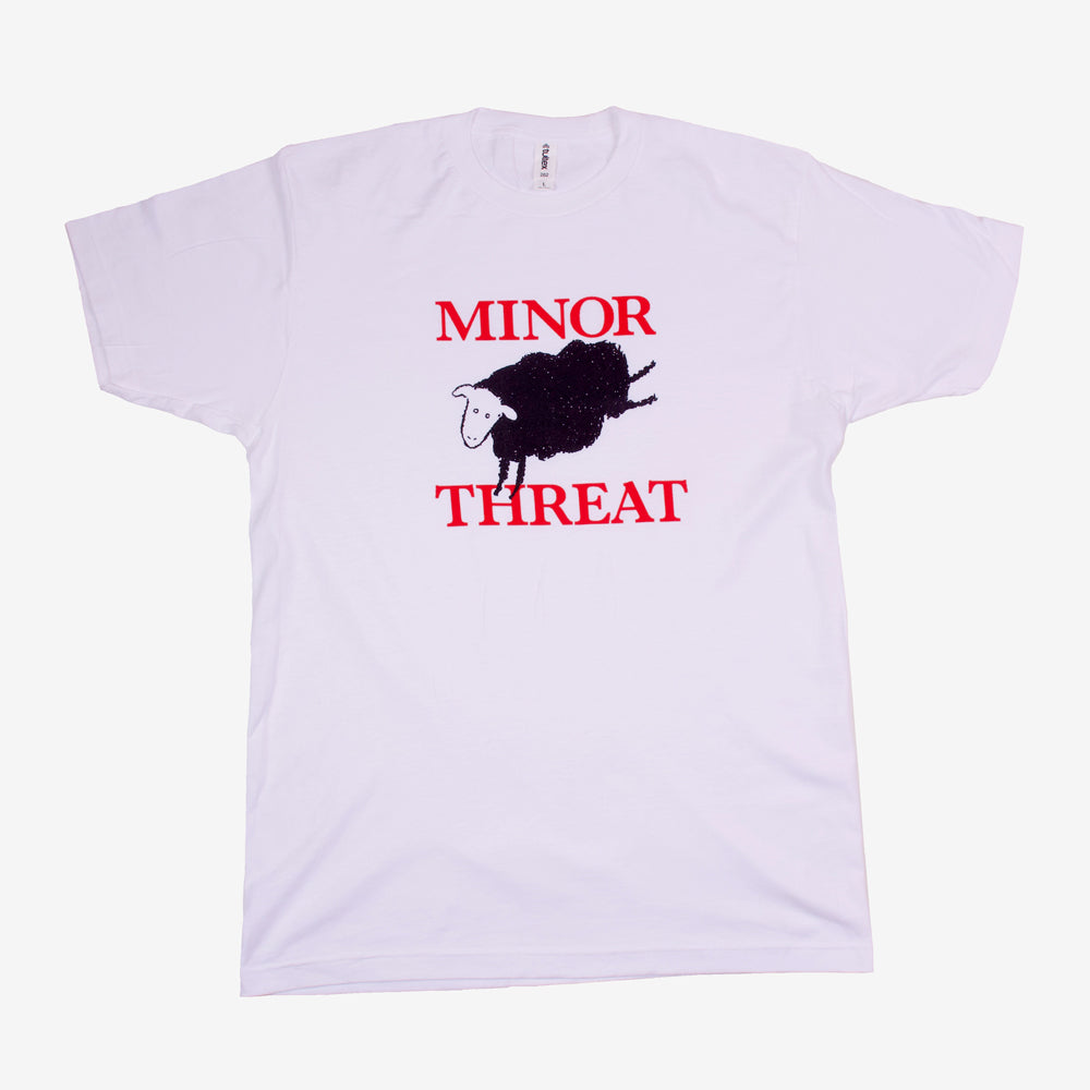 Minor Threat Black Sheep Tee White