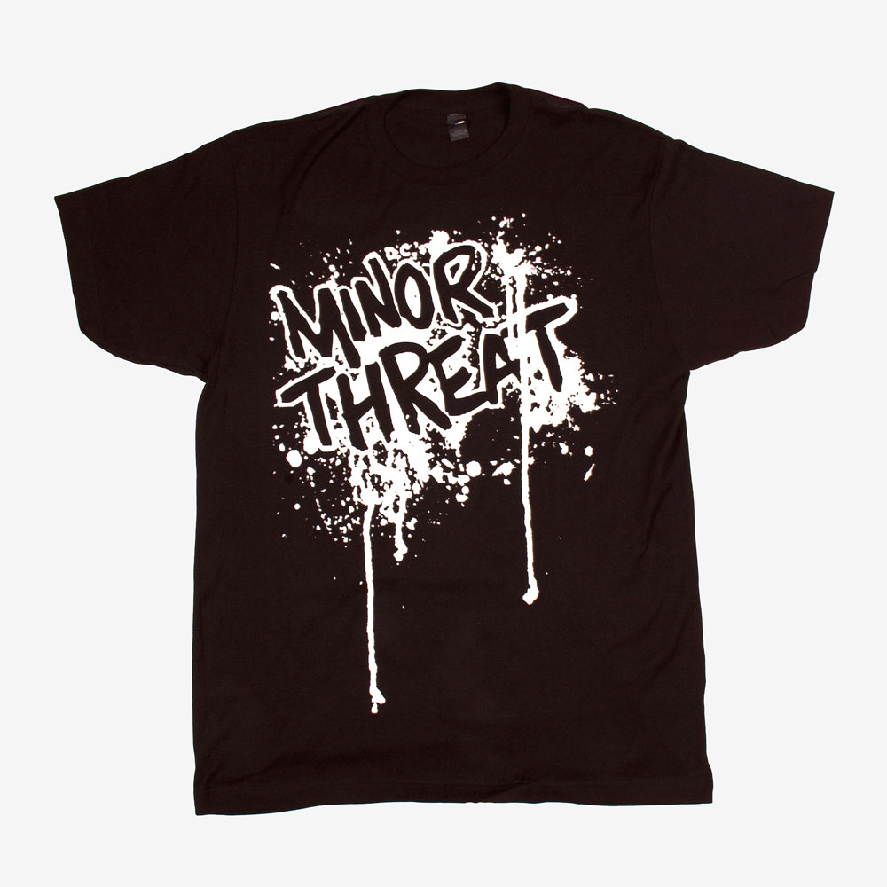 Minor Threat Drip Tee Black