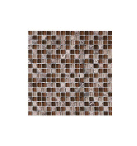 Pared Klimos Mosaico Vp23 Decorceramica Cafe Mate 30.5X30.5 (Cj: 1 M2)