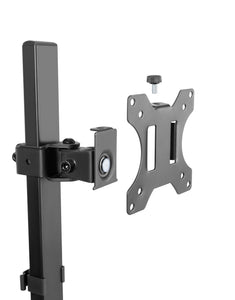Conquer Monitor Mount For Standing Desk Adjustable Single Screen Arm Pole Clamp