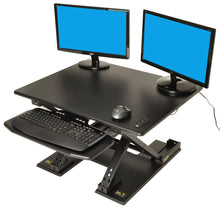 Load image into Gallery viewer, Motorized Standing Desk Electric Sit to Stand Ergonomic Workstation, Fully Automatic Monitor Riser
