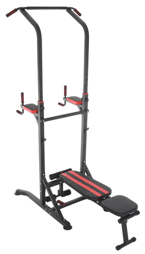 Conquer Power Tower Home Gym Adjustable Multi Function Fitness Stand Fold Up Bench Dip Station Pull Up Push Up Sit Up VKR