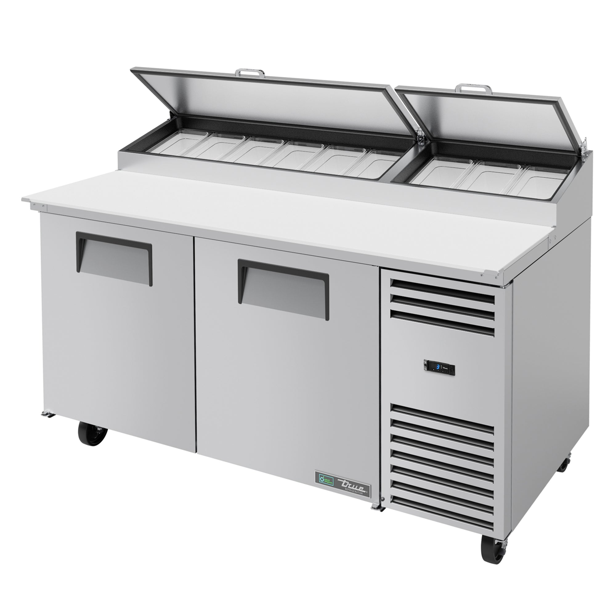 Pizza Prep Table, 2 solid doors - TPP-AT-67-HC