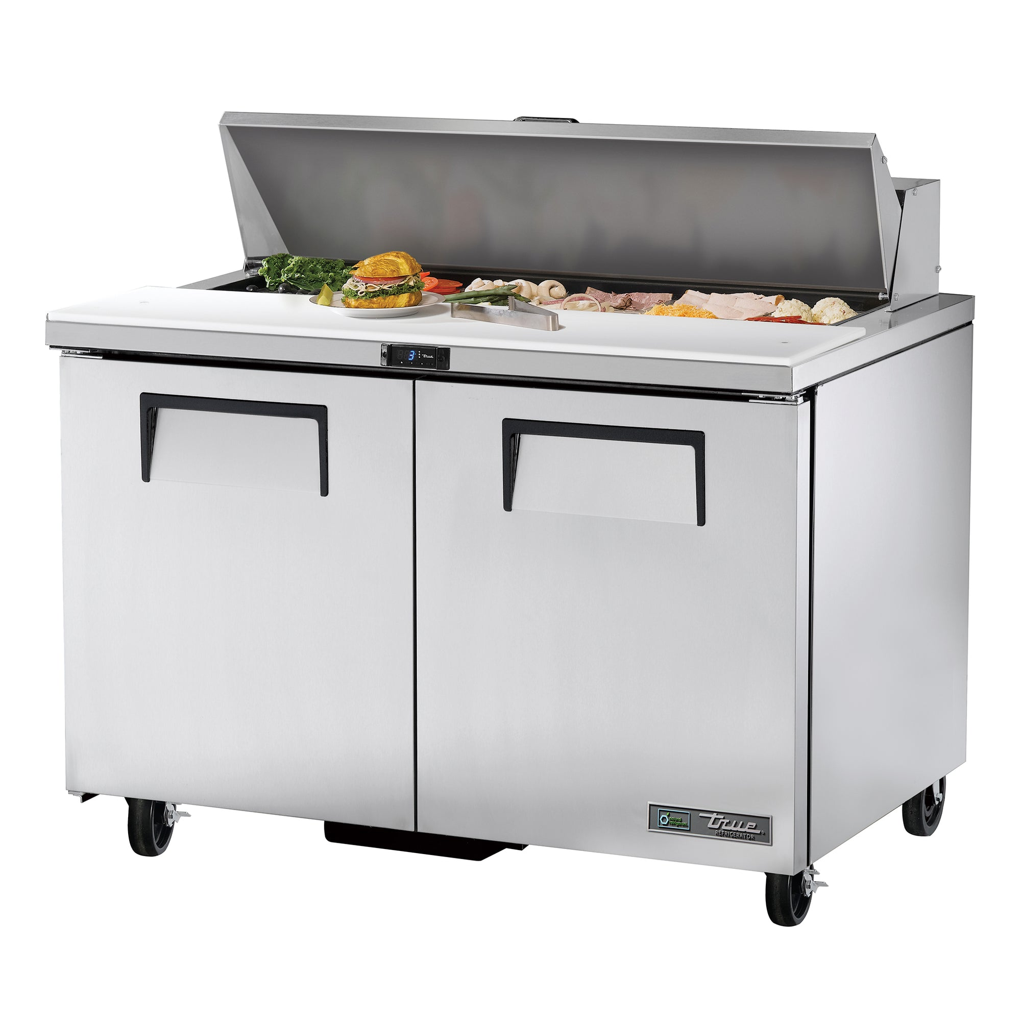 Prep Table Sandwich/Salad, 2 solid doors - TSSU-48-12-HC