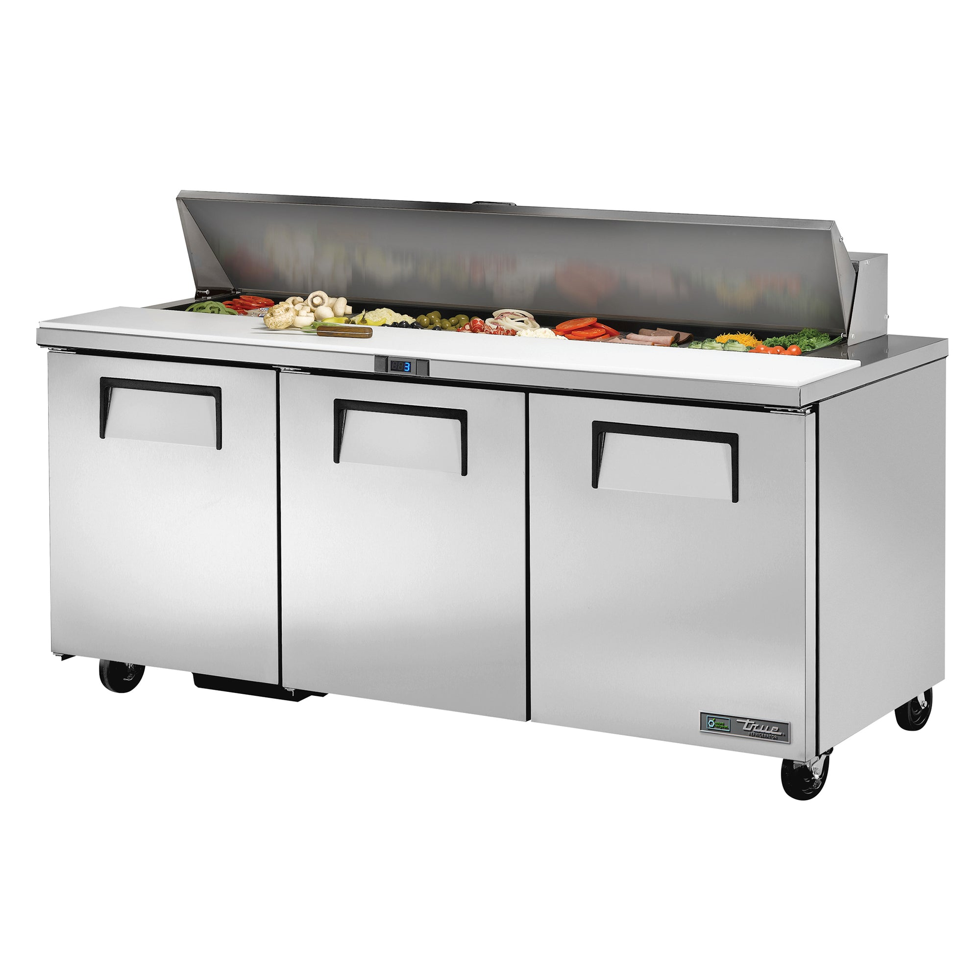 Prep Table Sandwich/Salad, 3 solid doors - TSSU-72-18