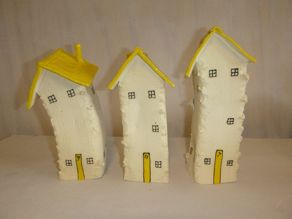 Three House Village Set