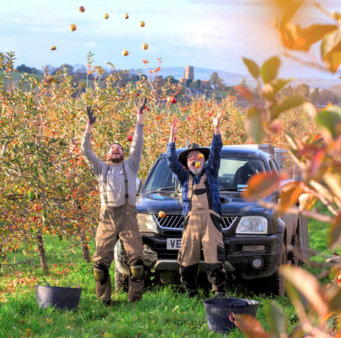 Blair and Christian on a particularly nice picking day with the Warrior