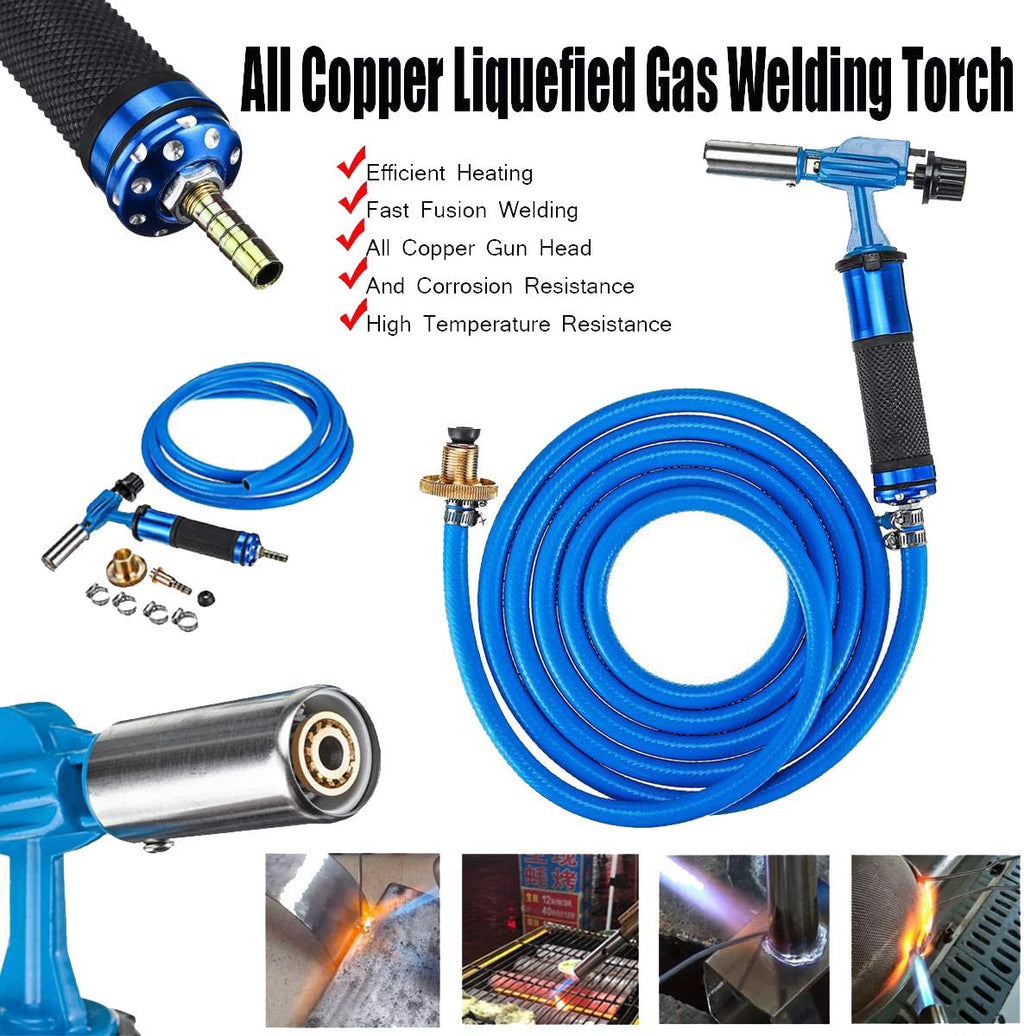 Electronic Ignition Liquefied Gas Welding Torch Kit + 3M Hose for Soldering