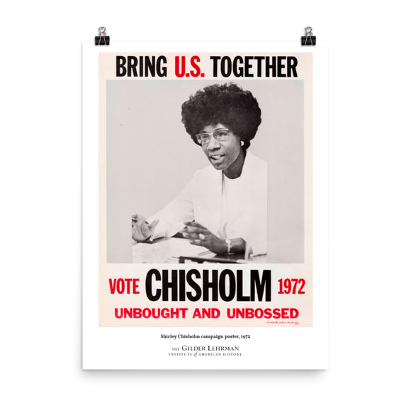 Shirley Chisholm campaign poster, 1972 (poster)