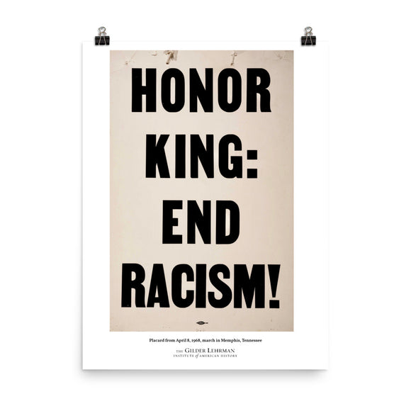 Placard from April 8, 1968, march in Memphis, Tennessee (poster)