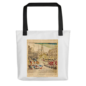 Paul Revere's engraving of the Boston Massacre, 1770 (tote)