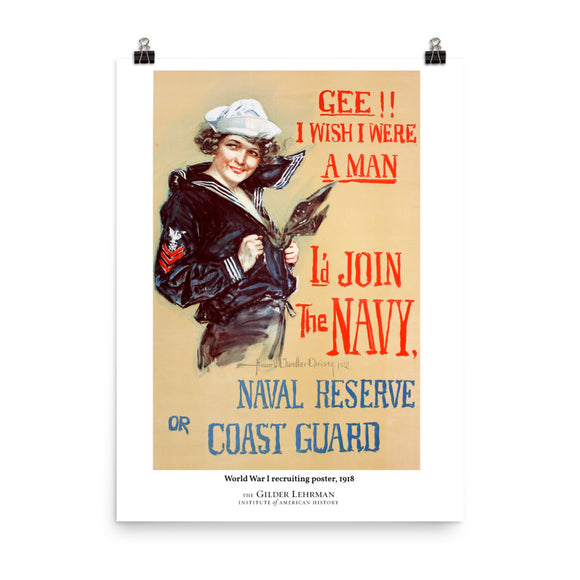World War I recruiting poster, 1918