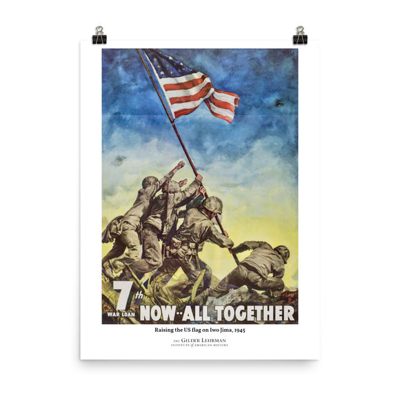 Raising the US flag on Iwo Jima, 1945 (poster)