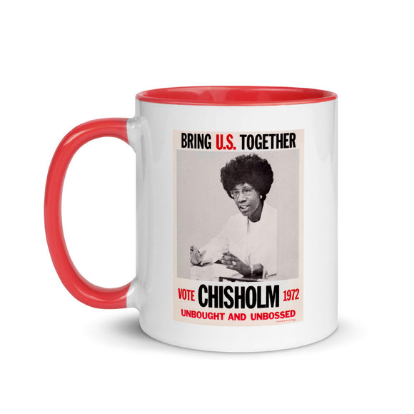 Shirley Chisholm campaign poster (two-color mug)