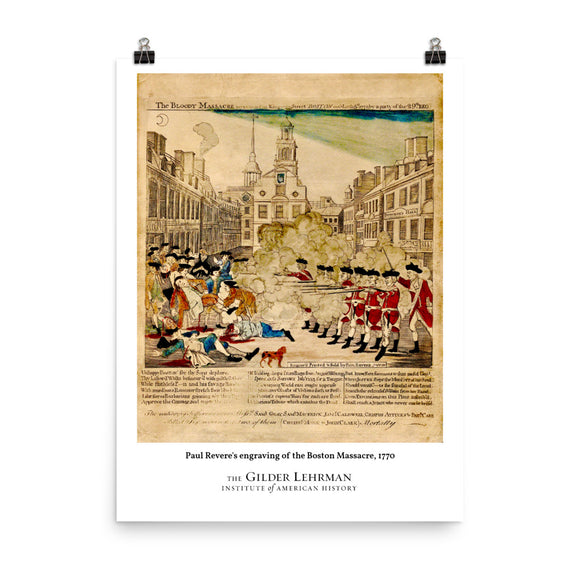 Paul Revere's engraving of the Boston Massacre, 1770 (poster)