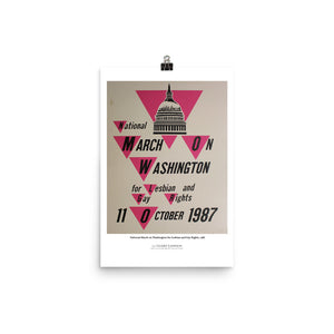 National March on Washington for Lesbian and Gay Rights, 1987 (poster)