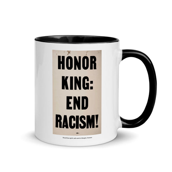 Placard from April 8, 1968, march in Memphis, Tennessee (two-color mug)