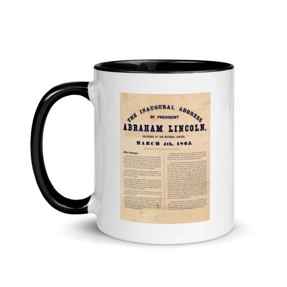 Abraham Lincoln's Second Inaugural Address (two-color mug)