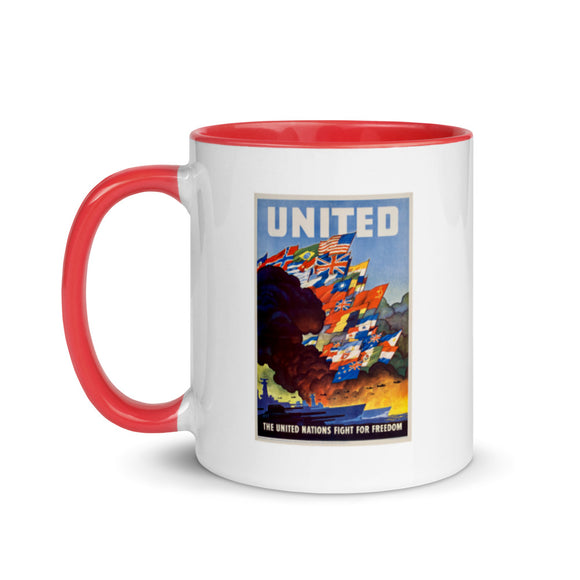 United States Office of War Information poster, 1943 (two-color mug)