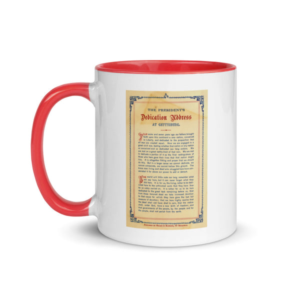 The Gettysburg Address (two-color mug)